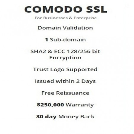 COMODO SSL (For Businesses & Enterprise)